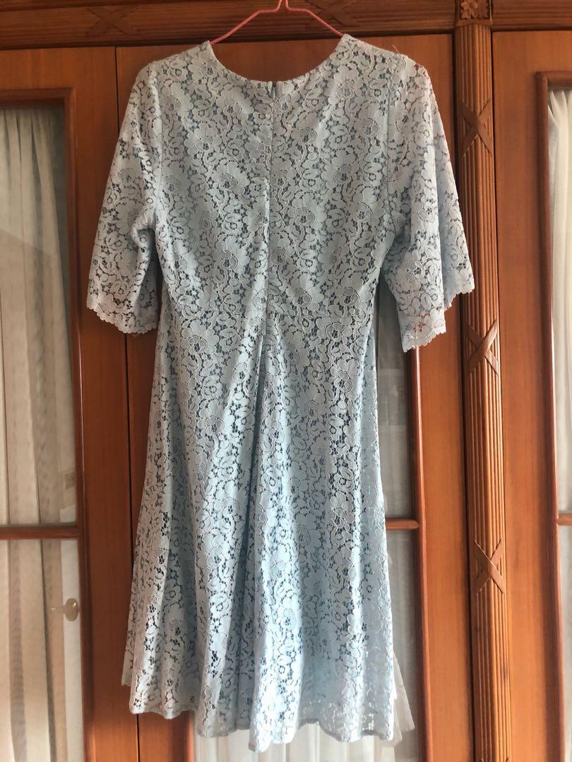 淺藍色lace 連身裙