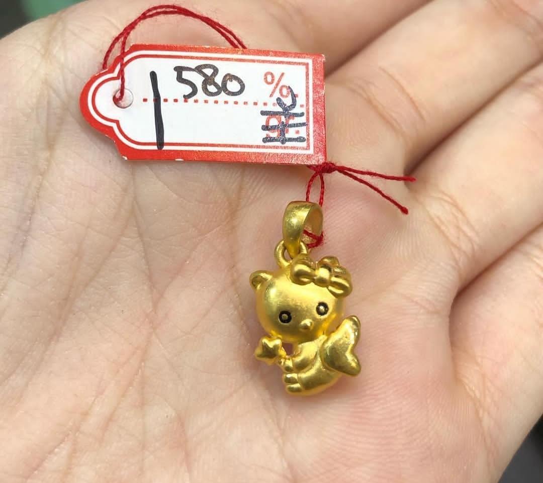 Liontin emas 24k hello kitty bintang