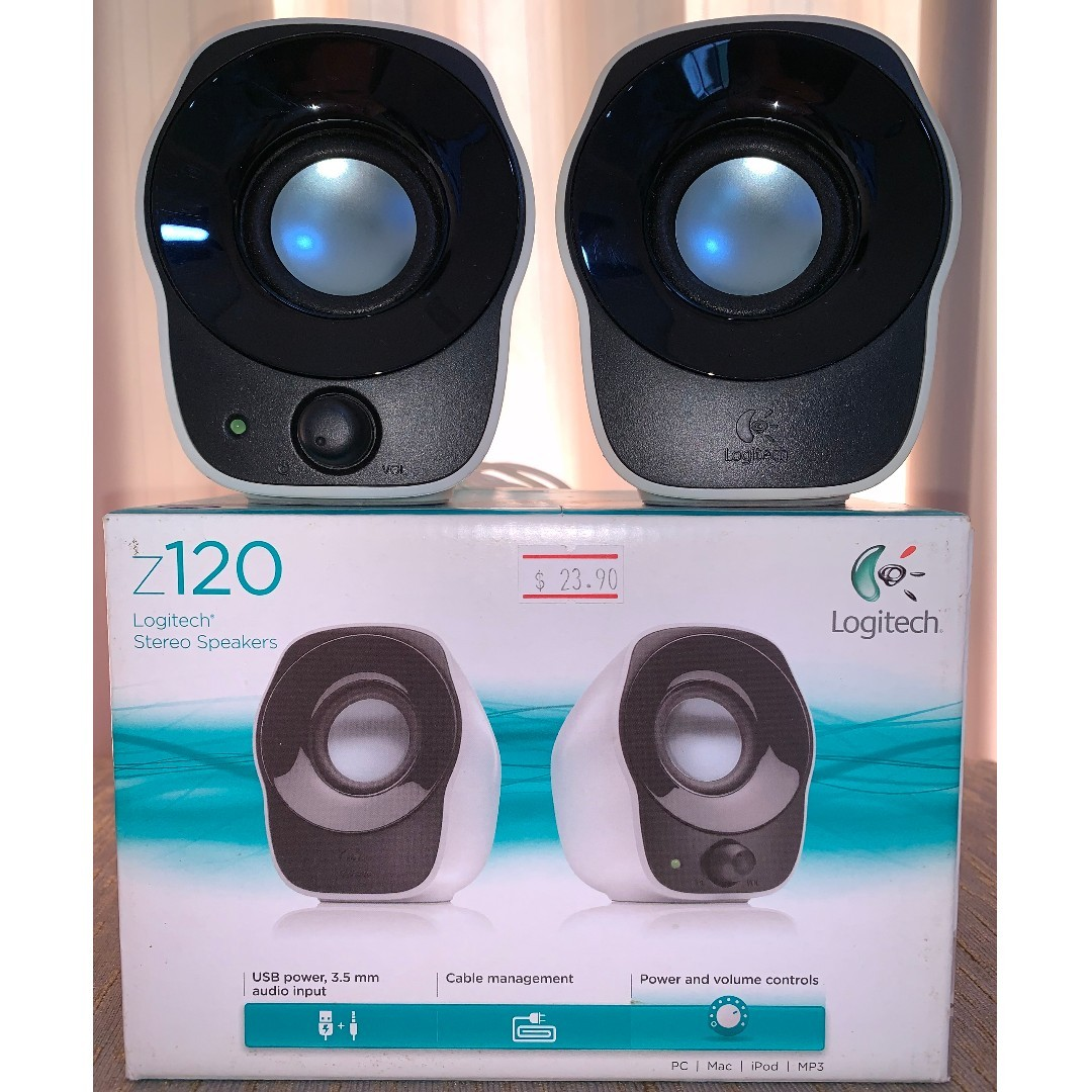 b4ab7a15269 Logitech Z120 Stereo Speakers, Electronics, Audio on Carousell