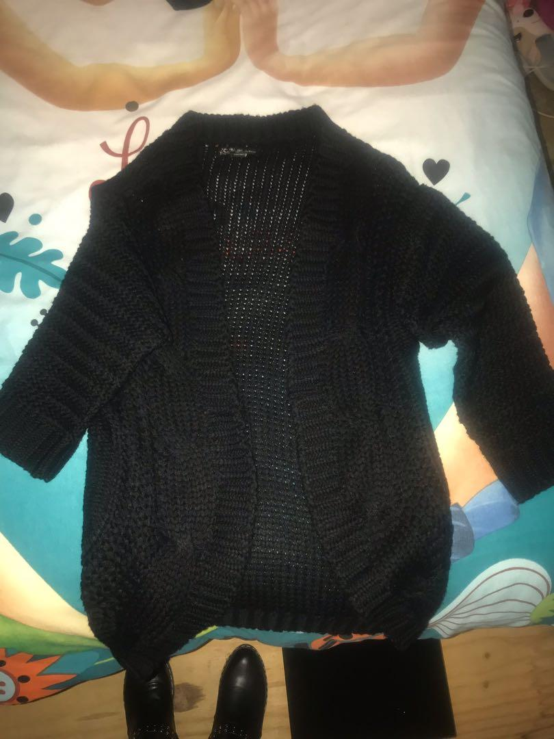 Long black knitted cardigan!!!! Brand new but took tags off!