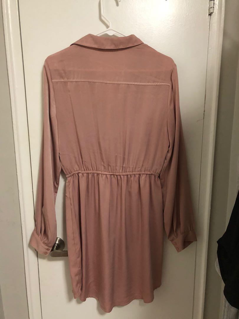 """Lush"" brand, Blush long sleeved dress, size large"