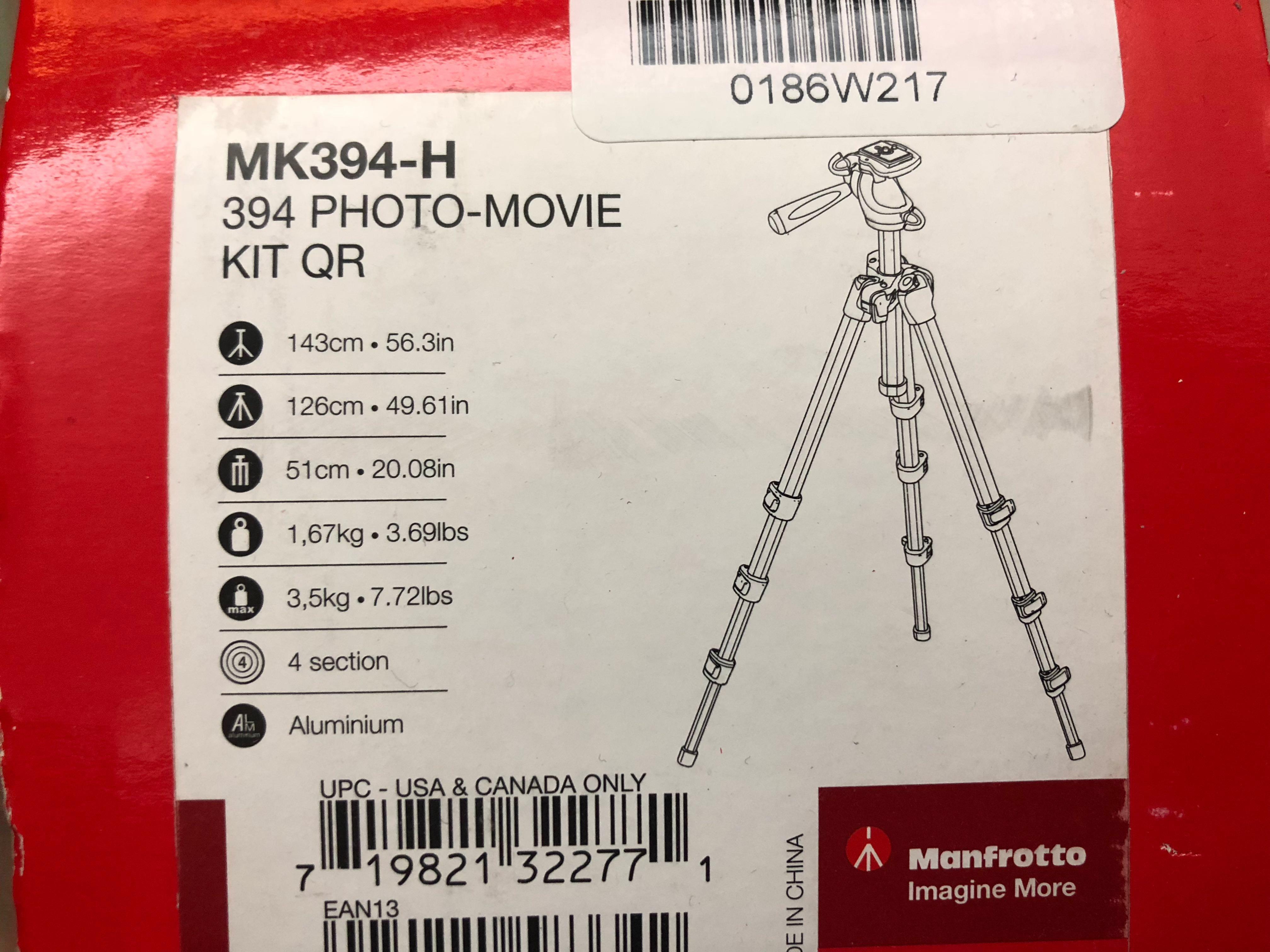Manfrotto MK394-H 腳架