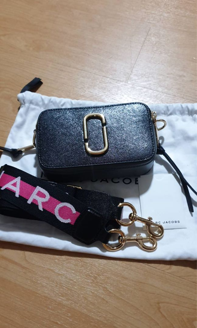 13f0e930d Marc Jacobs snapshot, Luxury, Bags & Wallets, Sling Bags on Carousell