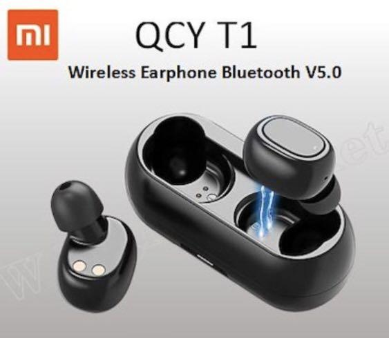 New QCY T1 Bluetooth 5.0 TWS Earbuds Mini HiFi Earphones with Charging Box Wireless Earphones Bluetooth Sound Earpiece 3D Stereo