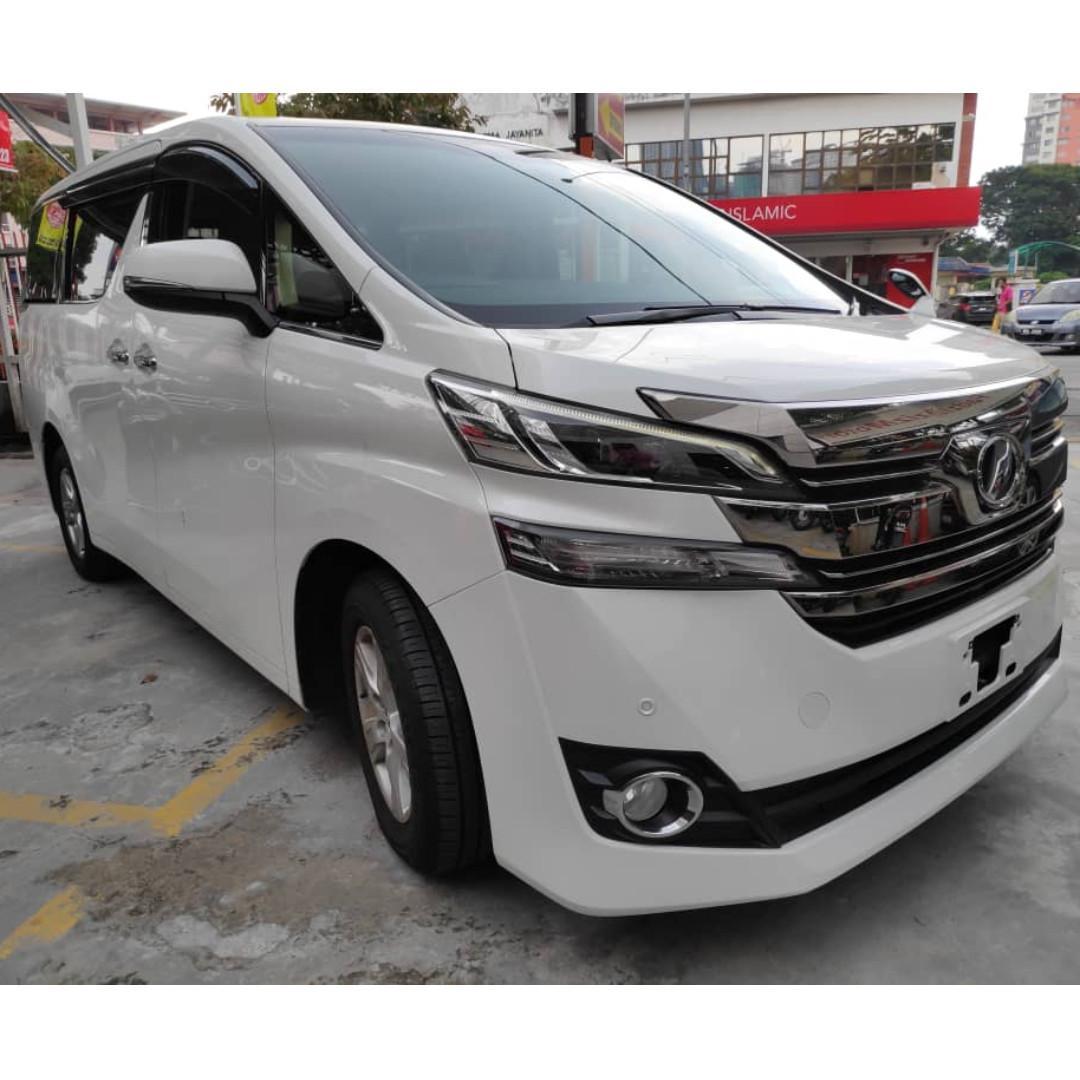 New Recond Toyota Vellfire 2.5 X spec White Alphard