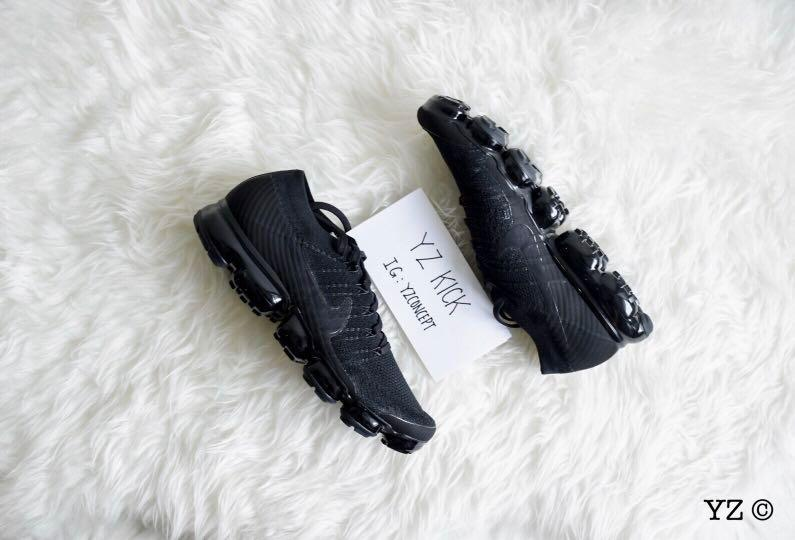 newest e9cda e2579 Nike Air Vapormax Flyknit Triple Black 3.0, Men's Fashion ...