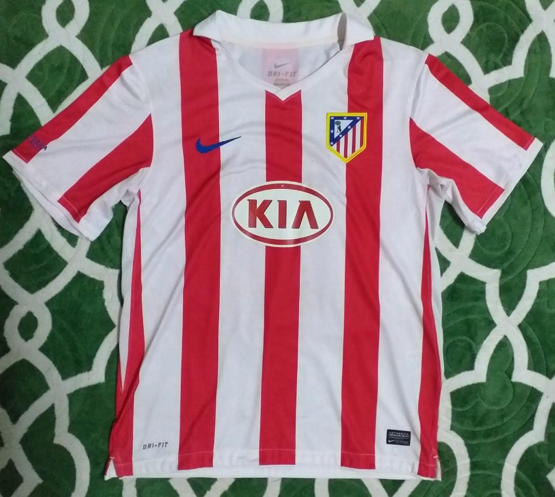 los angeles 1fae3 c35d2 Nike Atletico Madrid Jersey Home 10 11 Jersi Aguero, Men's ...