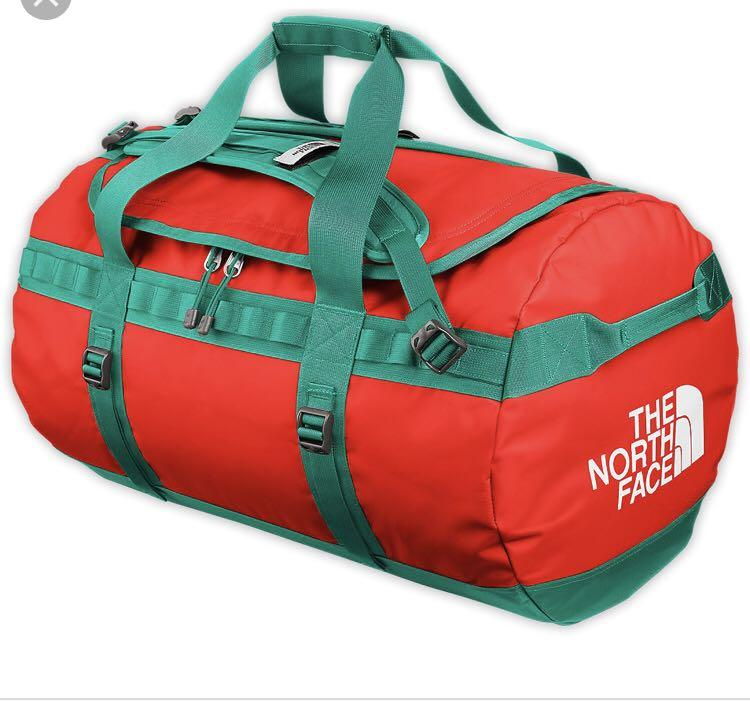 North face teal and orange duffel backpack - size medium