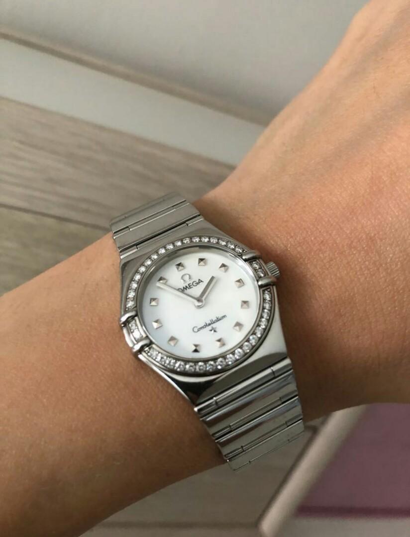 Omega Diamond Original Receipt Ladies Watch Full Set Constellation