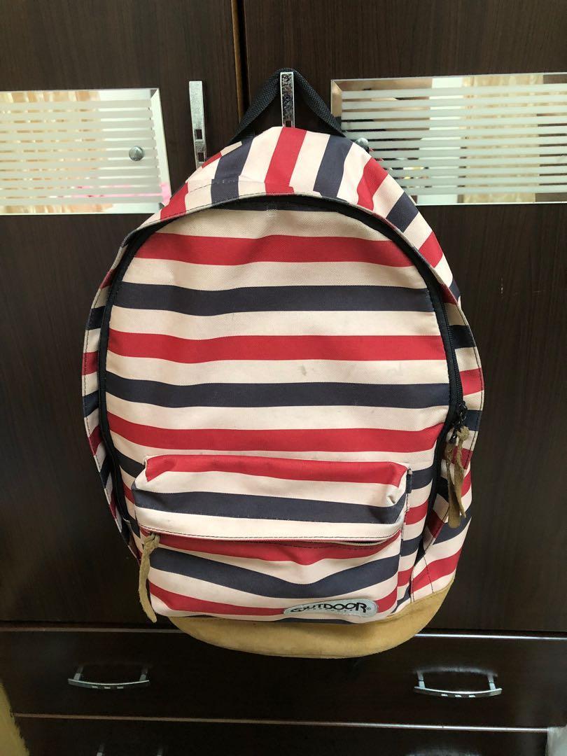 Outdoor 條紋 背包