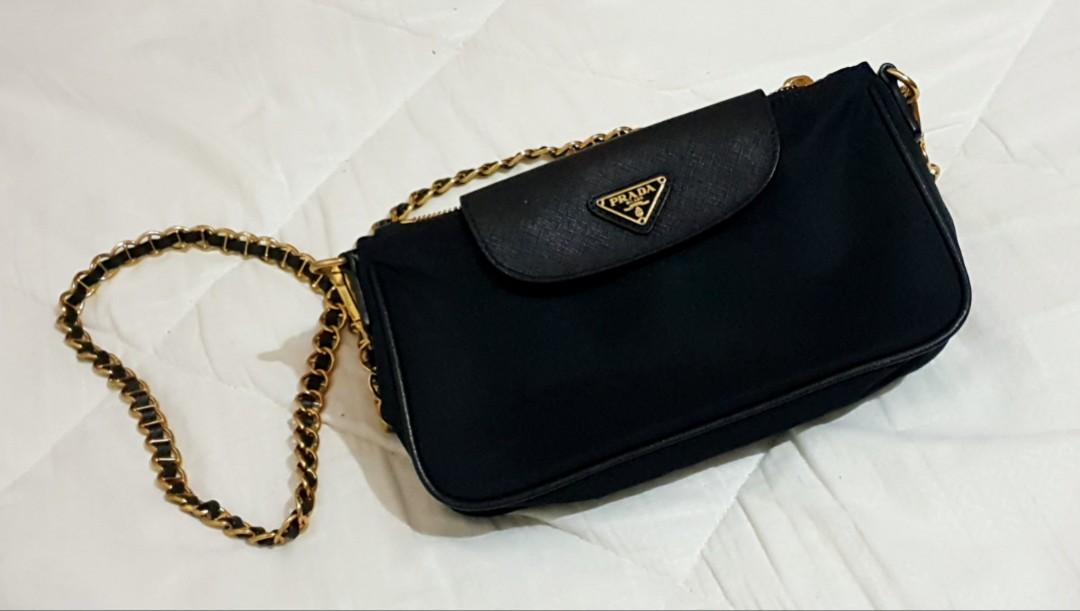 dcdb6b2944fd Prada convertible clutch sling bag, Women's Fashion, Bags & Wallets on  Carousell
