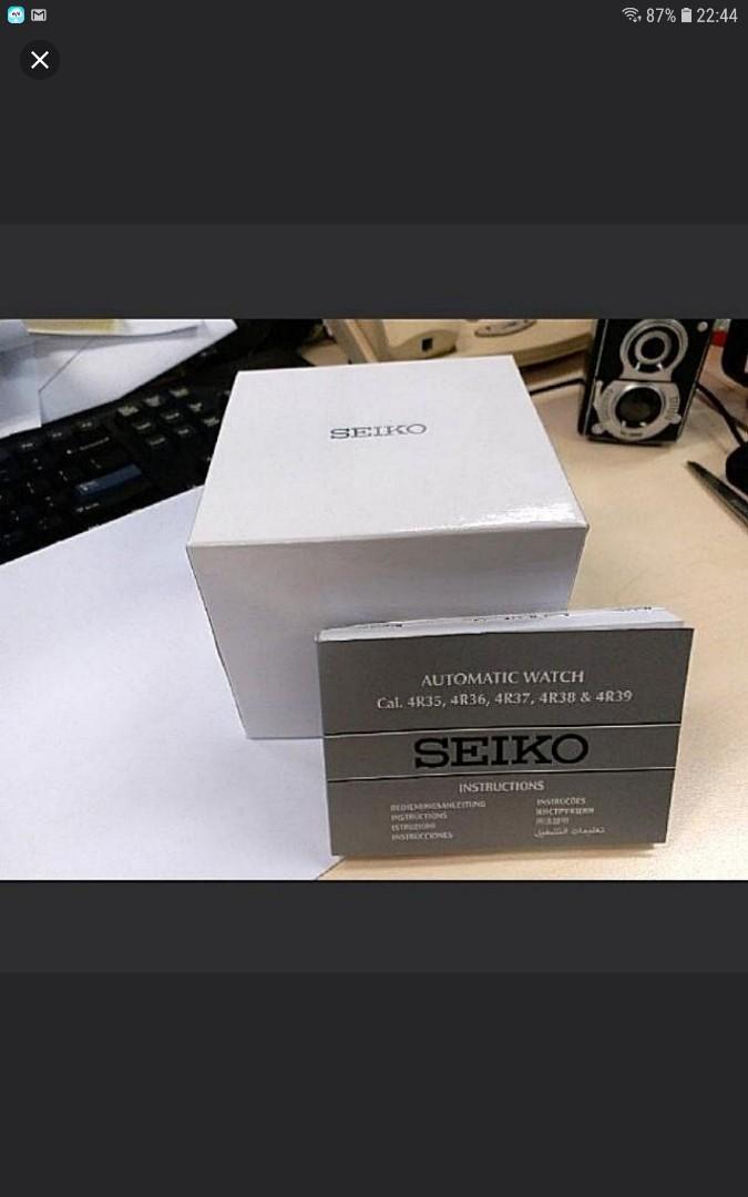 SEIKO 精工錶,AUTOMATIC 自動錶,44mm,全新,未戴過。原紙、原盒齊全
