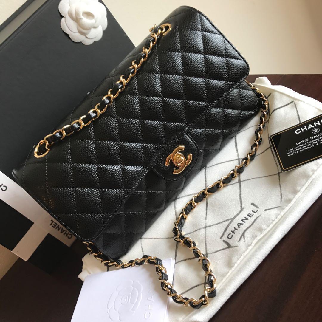 11ff9d2333d7 <SOLD> #22 BNIB Chanel Medium Caviar GHW classic double flap bag, Luxury,  Bags & Wallets, Handbags on Carousell