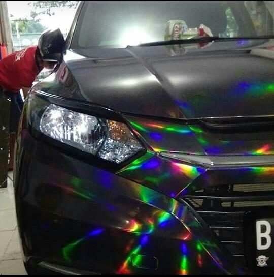 Sticker scotlaite motif matt crome & Oracal untuk wrapping mobil