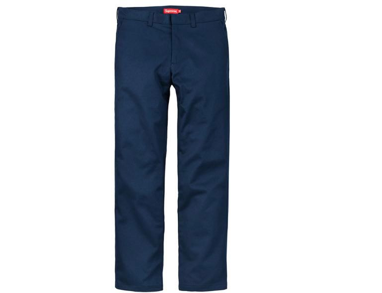 03654a1e40d1 Supreme Work Pants Navy, Men's Fashion, Clothes, Bottoms on Carousell