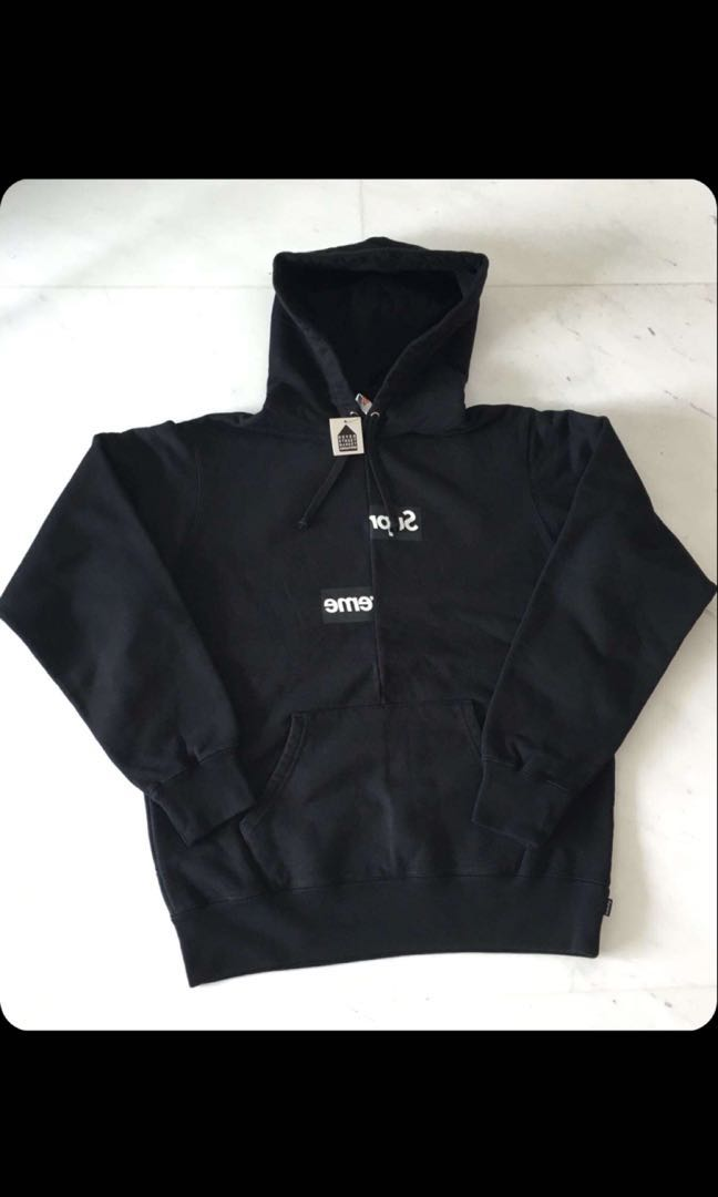 00dfec27 Supreme X CDG Black Box Logo Bogo, Men's Fashion, Clothes, Tops on ...