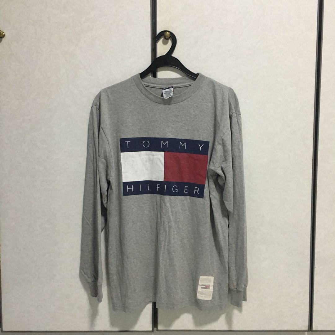 1e0c36f7bb8b Tommy Hilfiger vintage flag shirt, Men's Fashion, Clothes, Tops on Carousell