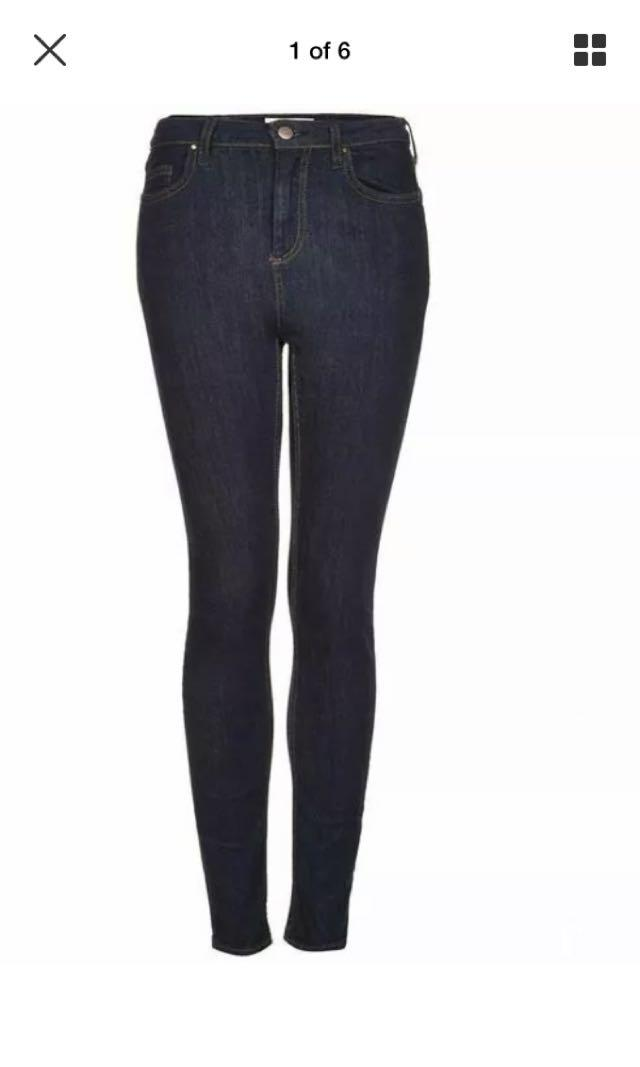 Topshop moto Jamie jeans high waisted ankle size 24 6 NWT