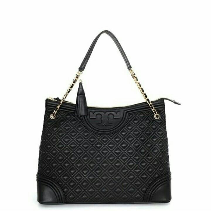Tory Burch Fleming Quilted Tote / Tas Branded Tory Burch Original Murah / Tory Burch Original Murah