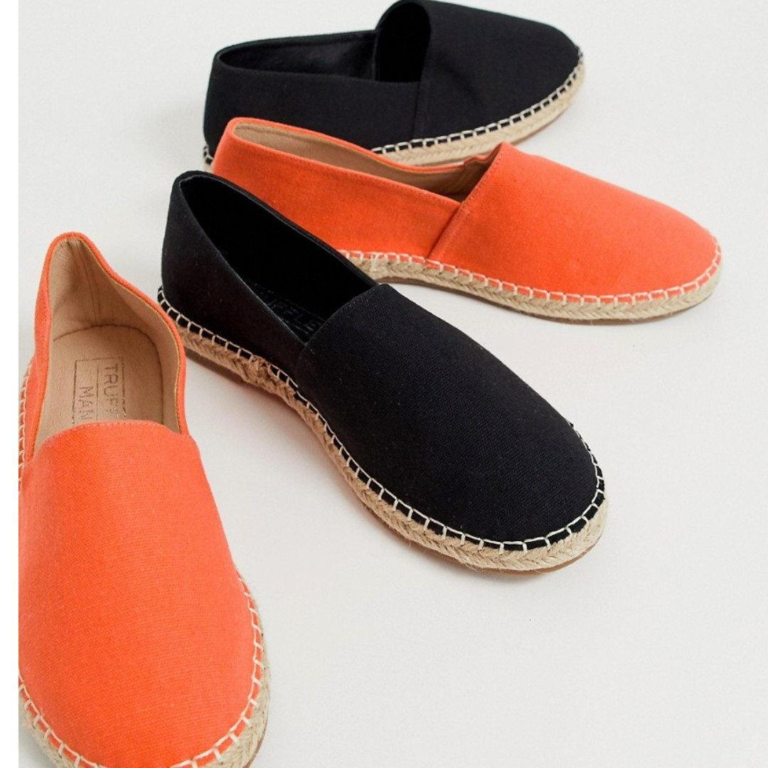 8c6173ff4 Truffle Collection two pack espradrilles in black and orange