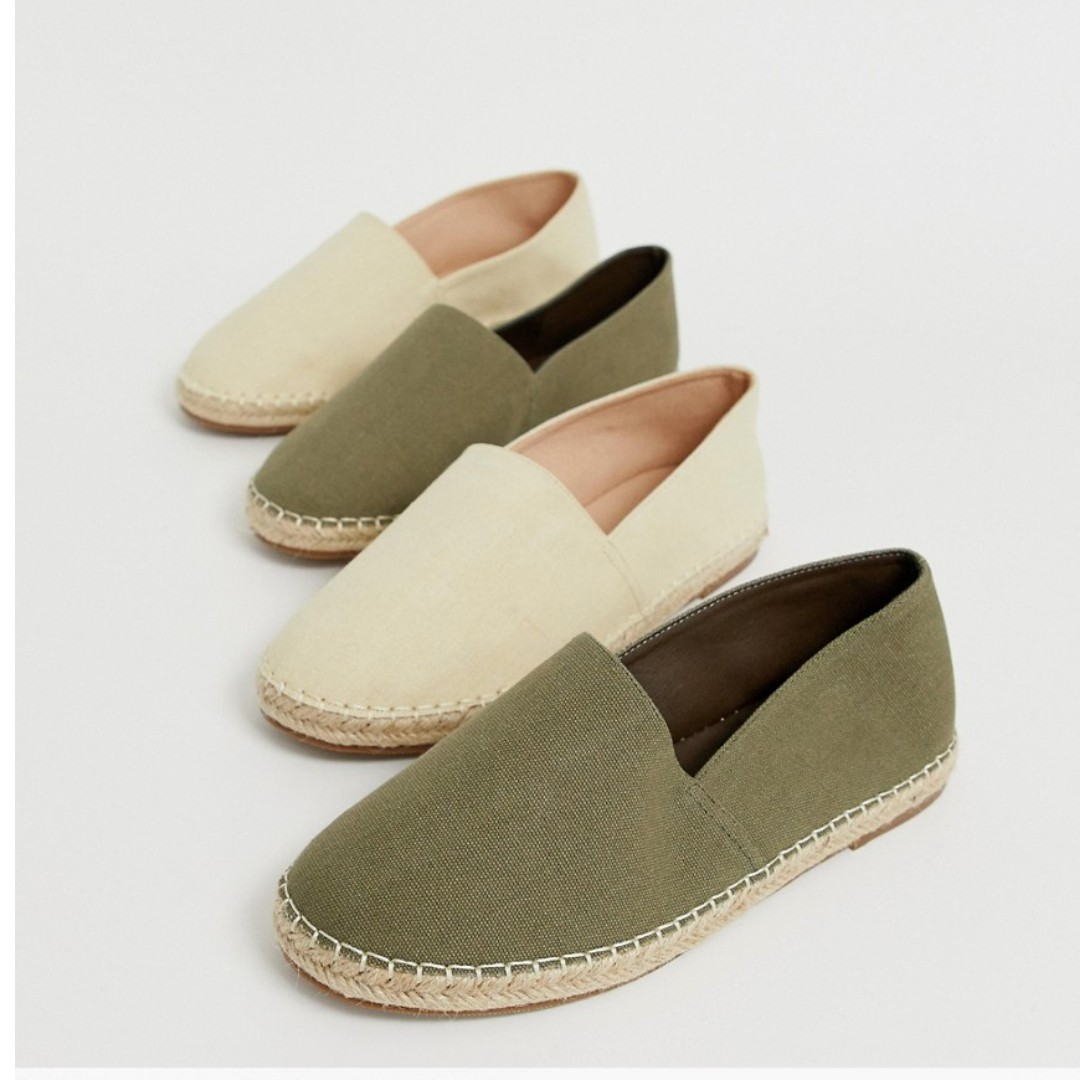 74e54b8df Truffle Collection two pack slip on plimsolls in beige and khaki ...
