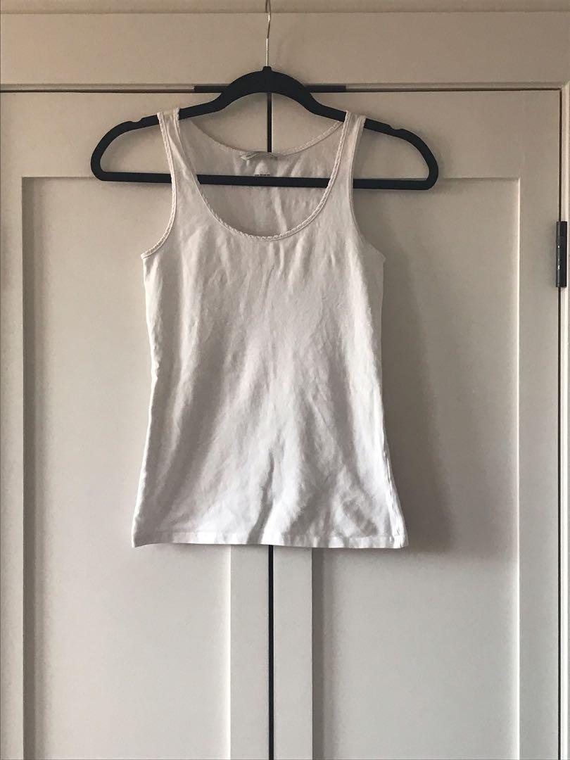 White tank top, H&M, size XS