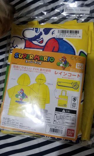 日本Torbea 景品 SUPER MARIO 黃色雨褸(只有1件)