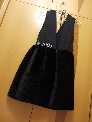 🈹 💯 New Alice + Olivia Black Velvet Jacquered Dress