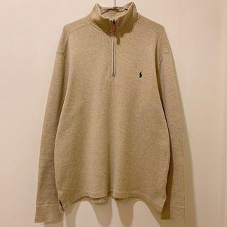 [ 已售出 ]古著POLO長袖半拉鍊針織衣 米色 / Polo Ralph Lauren Vintage 1/4 Zip Sweatshirt