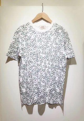 🚚 愛馬仕男士馬蹬印花圓領短袖T恤
