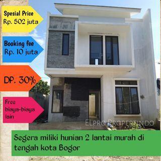 Rumah Cluster minimalis lokaasi strategis di bogor
