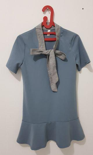 Dress Biru Flare