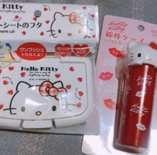Kitty 棉花棒罐 濕紙巾蓋