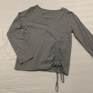 Grey Cotton 3/4 sleeves