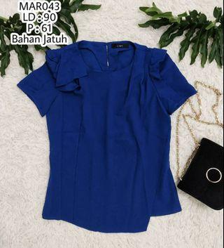 Blouse biru navy / blouse biru bca/ dress biru navy