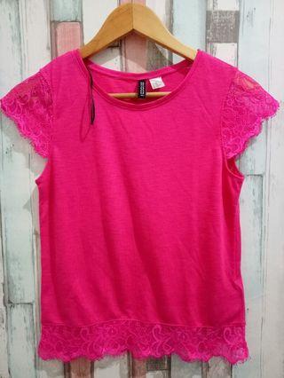 H&M bright pink shirt