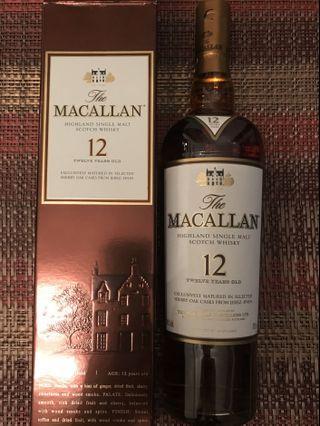 香港行貨舊版Macallan 12 Sherry Oak Cask (有盒)