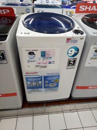 Mesin cuci Sharp Top loading bisa dicicil