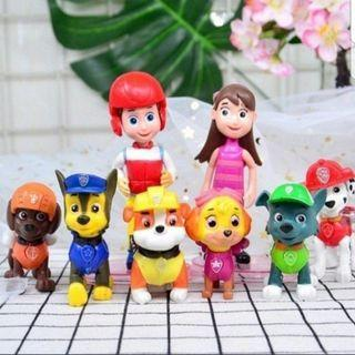 8pcs Paw patrol cake toppers/ Figurine/toy/Display/miniature