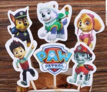24pcs Paw Patrol Cake/Cupcake/Muffin Toppers for Party Decoration