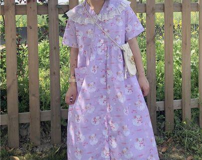 《洋裝 全新》日系小羊復古洋裝