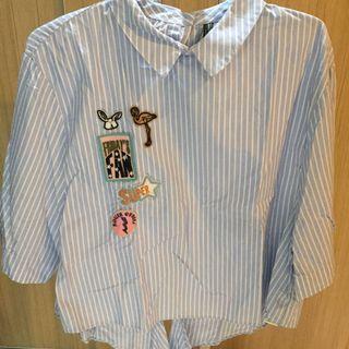 Zara patch shirt