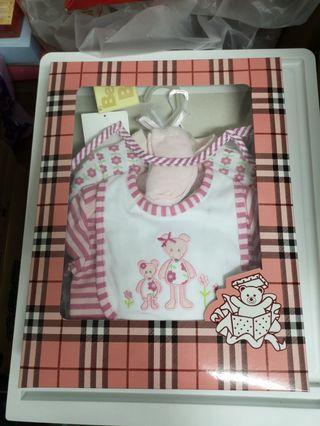 新生兒禮盒七件組+豆豆龍毛巾禮盒