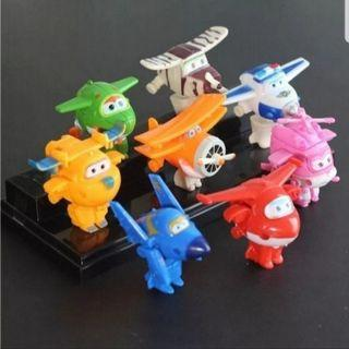 8pcs Super wings Cake Topper for Party Decoration/Figurine