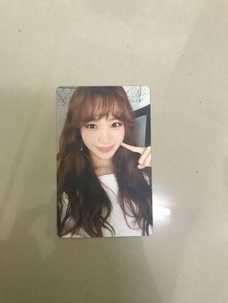 Chaewon solo unit photocard ( color iz)