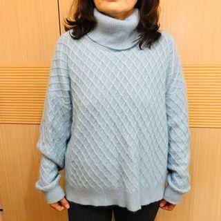 Loranzo Romaza 義大利精品毛衣(淡藍色)#半價衣服拍賣會