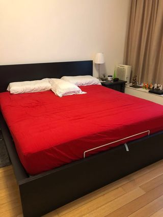 Incredible Malm Ikea Bed Frame And Mattress Furniture Beds Andrewgaddart Wooden Chair Designs For Living Room Andrewgaddartcom
