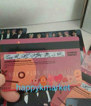 Bts pvc bank card