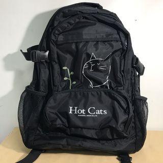 🚚 貓咪黑色雙肩後背包