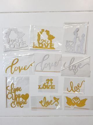 Love Wedding/ Anniversary cake toppers/Props